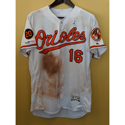 Photo of Trey Mancini - 2019 Father's Day Jersey: Game-Used (Solo HR)