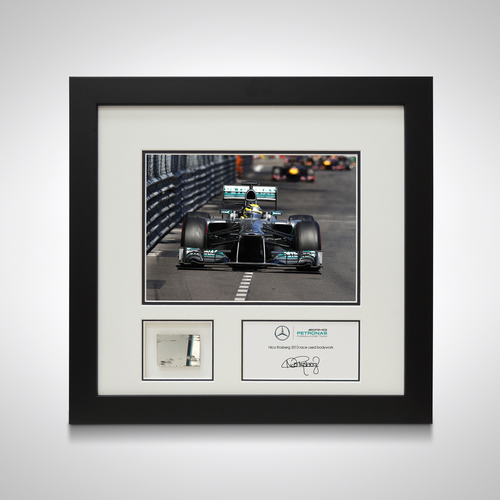 Photo of Nico Rosberg 2013 Photo and Piece of Car Bodywork - Mercedes-AMG Petronas Mot...