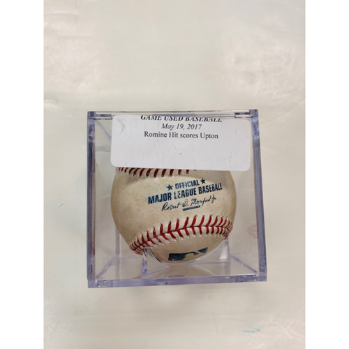 Photo of Game-Used Baseball: Andrew Romine RBI Single