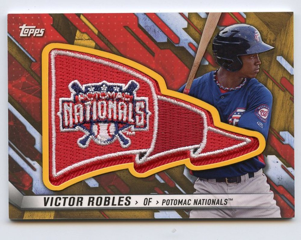 2017 Topps Pro Debut Pennant Patches Gold #PPVR Victor Robles