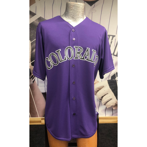 Photo of Colorado Rockies Autographed Replica Jersey: Trevor Story Alternate Purple