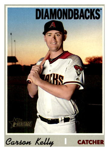 Photo of 2019 Topps Heritage #592 Carson Kelly