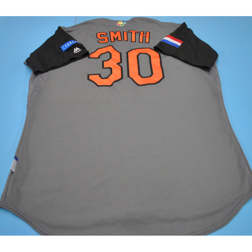 Photo of 2017 World Baseball Classic Game-Used Jersey - Curt Smith - Kingdom of the Netherlands (Size 48)
