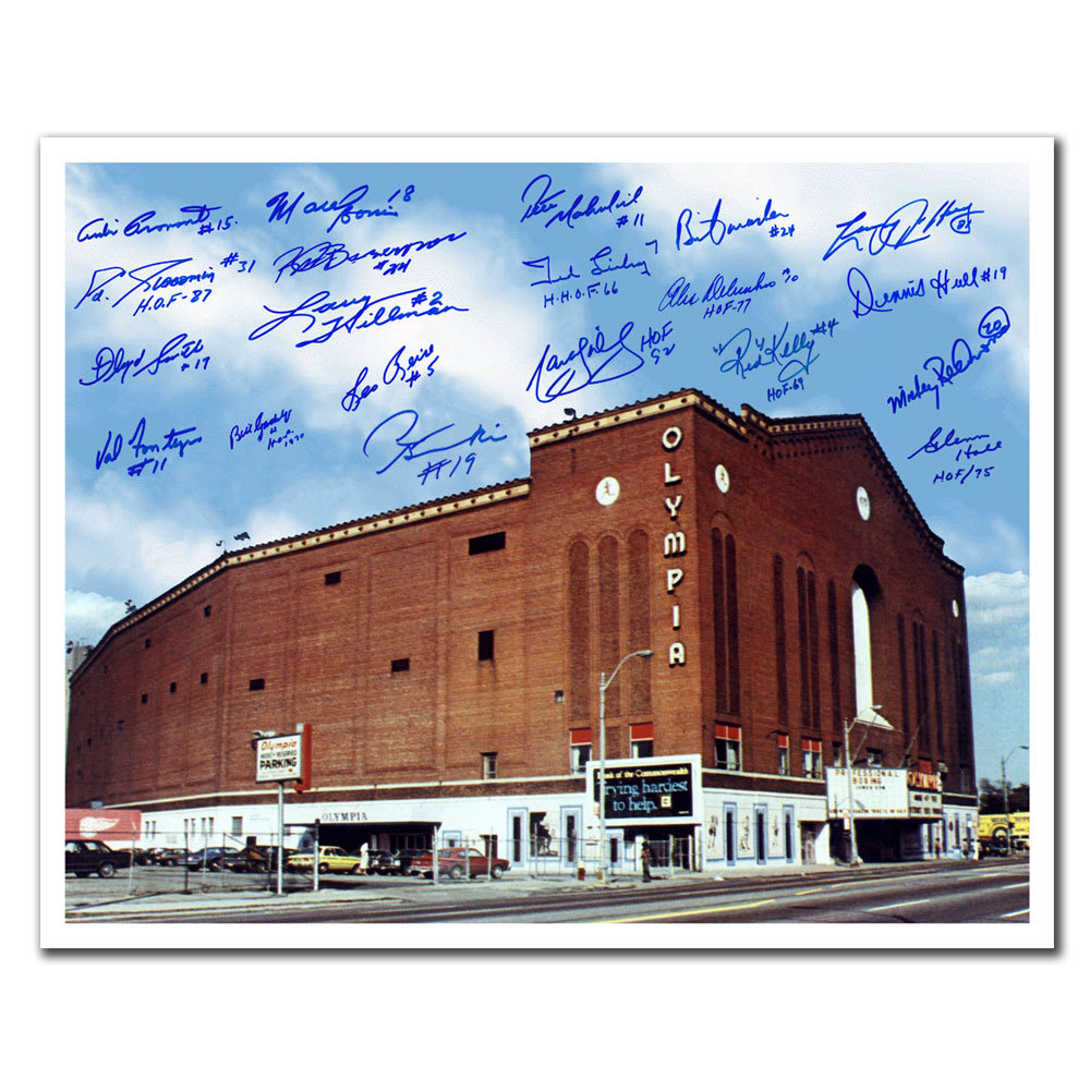 Olympia Stadium Detroit Red Wings Legends Autographed 16x20 Signed by 20