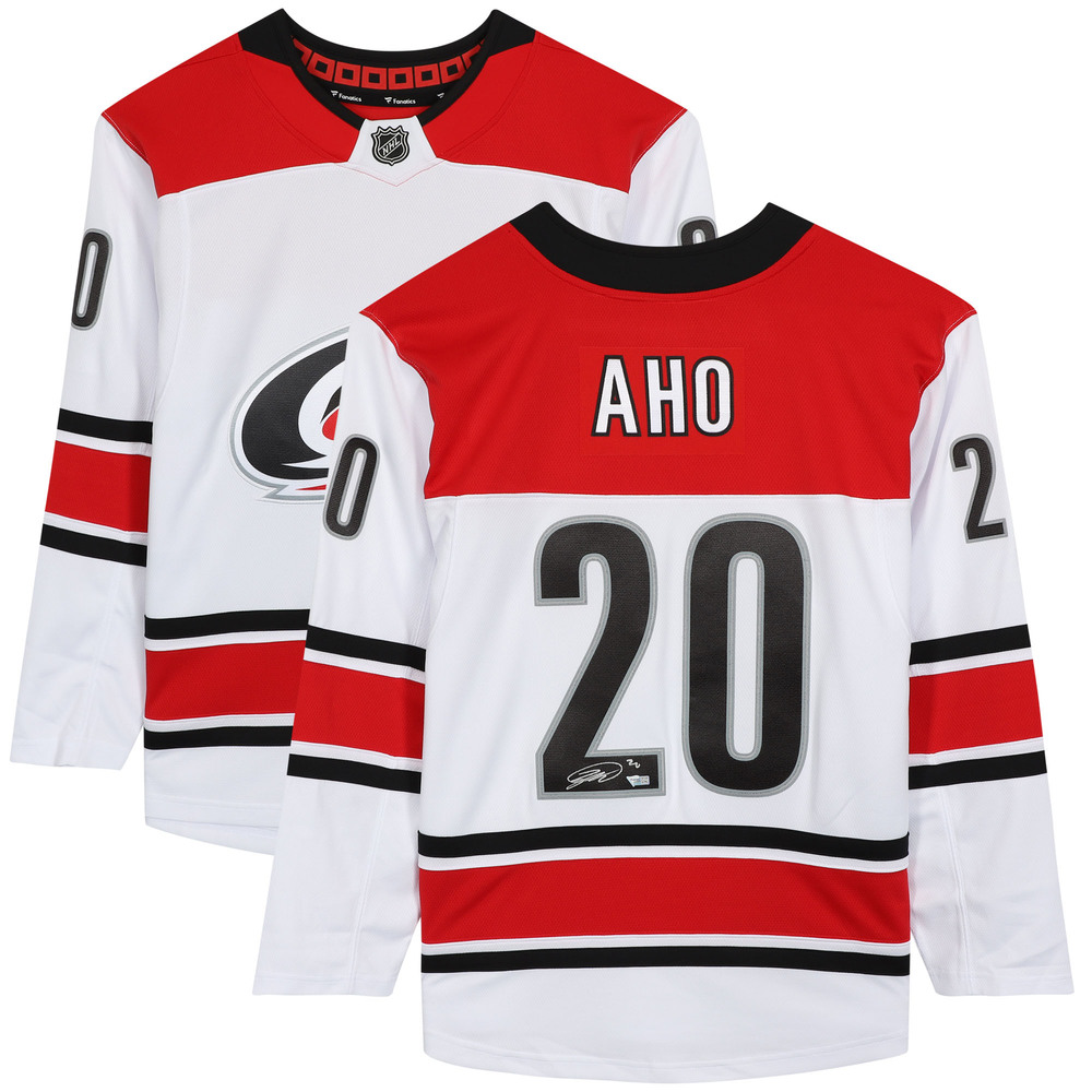 Sebastian Aho Carolina Hurricanes Autographed White Alternate Fanatics Breakaway Jersey - NHL Auctions Exclusive