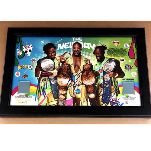 Photo of The New Day SIGNED Tag Team Champions Commemorative Frame (Random Number)
