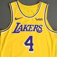 Alex Caruso - Los Angeles Lakers - NBA China Games - Game-Worn Icon Edition Jersey - 2019-20 NBA Season