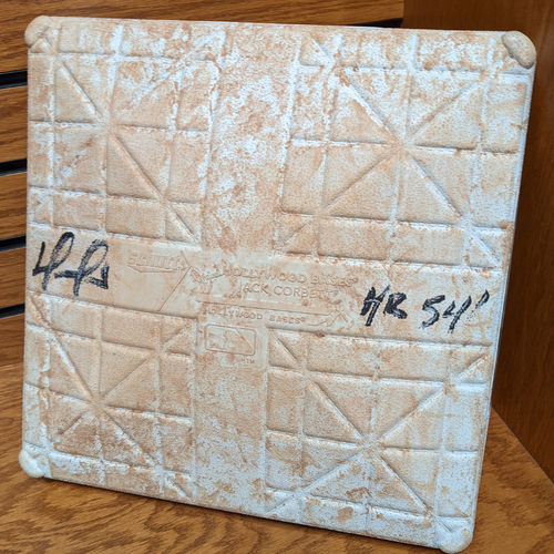 Photo of David Ortiz Autographed 541st Home Run September 30, 2016 Game Used 2nd Base
