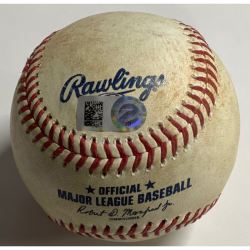 Photo of Game Used Baseball - 9/27/2020 - Pirates at Indians - Oscar Mercado Single off Geoff Hartlieb