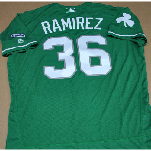 Photo of Game-Used 2016 Spring Training Jersey - Jose Ramirez - Size 46 - Atlanta Braves