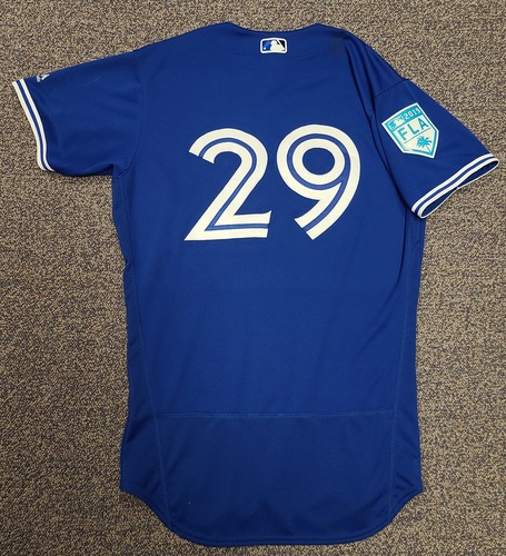 Photo of Authenticated Team Issued 2019 Spring Training Jersey: #29 Devon Travis. Size 42