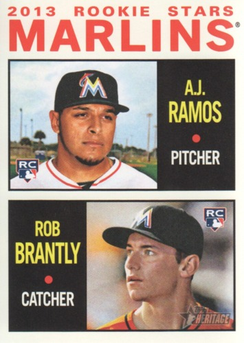 Photo of 2013 Topps Heritage #287 A.J. Ramos RC/Rob Brantly RC