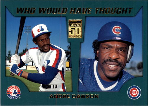 Photo of 2001 Topps Traded Who Would Have Thought #WWHT8 Andre Dawson