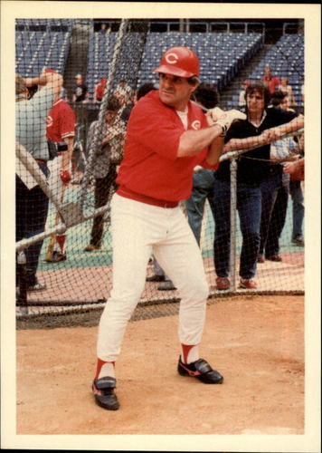 Photo of 1985 Topps Rose #38 Pete Rose/in batting cage