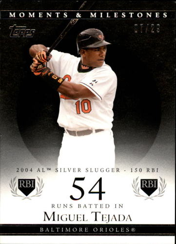 Photo of 2007 Topps Moments and Milestones Black #155-54 Miguel Tejada/RBI 54