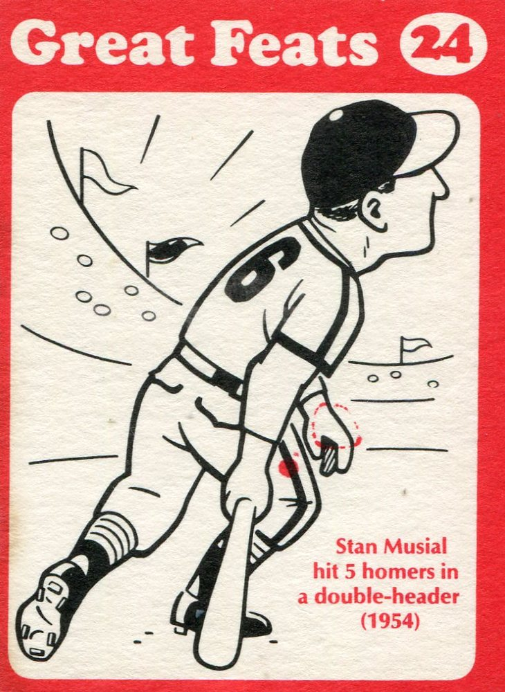 1972 Laughlin Great Feats #24 Stan Musial