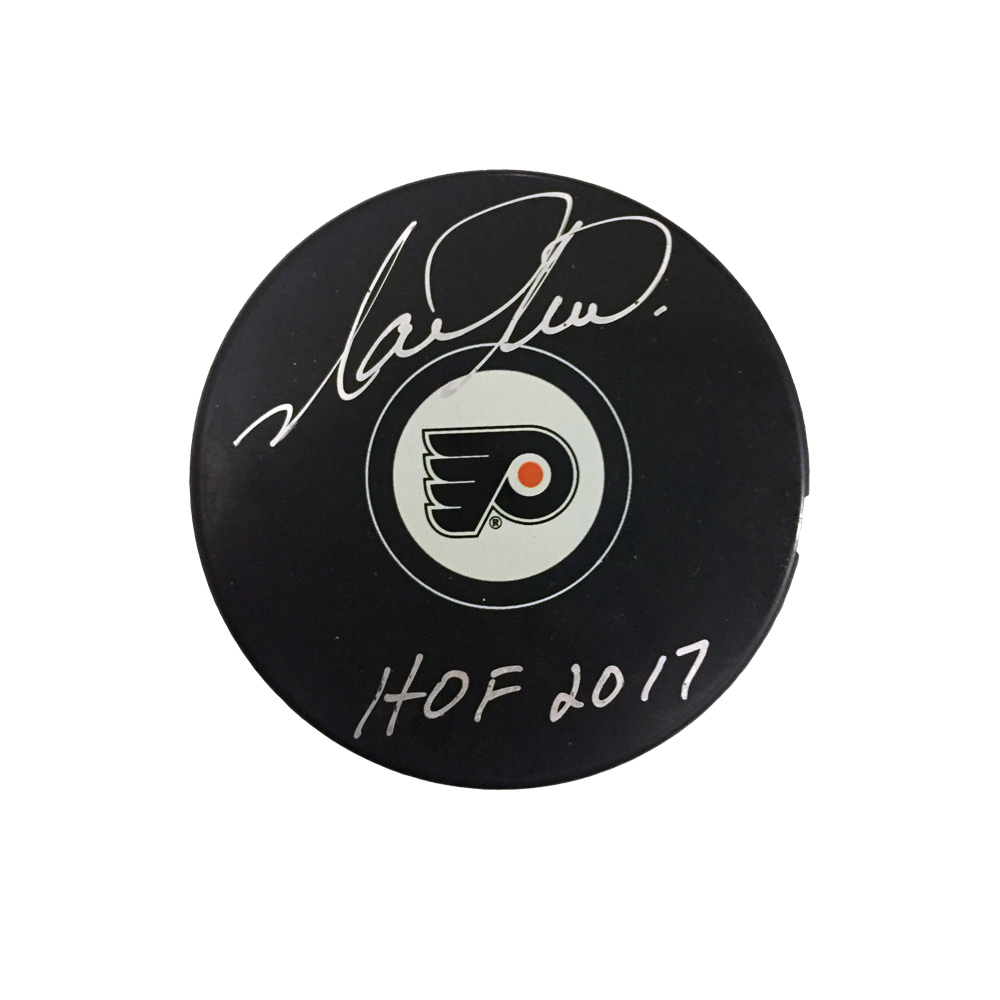 MARK RECCHI Signed Philadelphia Flyers Puck with