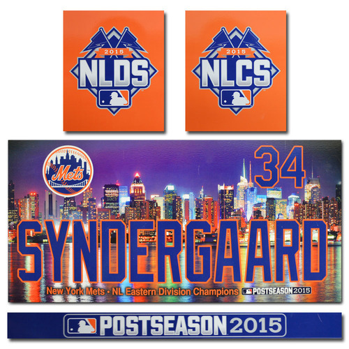 Photo of Noah Syndergaard #34 - Game Used Locker Nameplate - 2015 Postseason