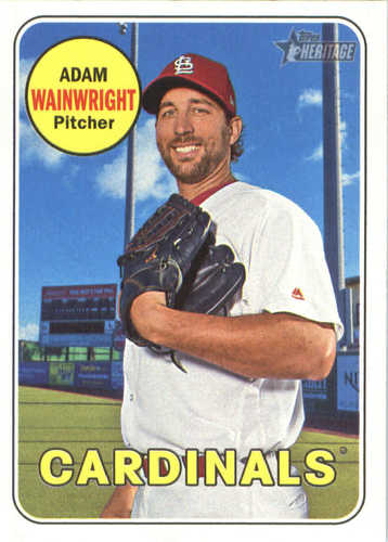 Photo of 2018 Topps Heritage #195 Adam Wainwright