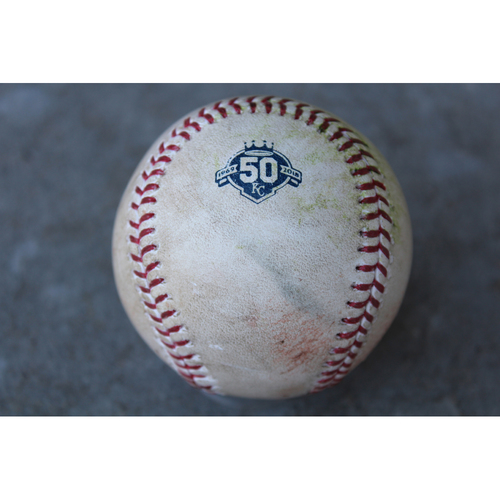 Photo of Game-Used Baseball: Leury Garcia 5th Career Triple and 51st Career RBI (CWS at KC - 4/27/18)