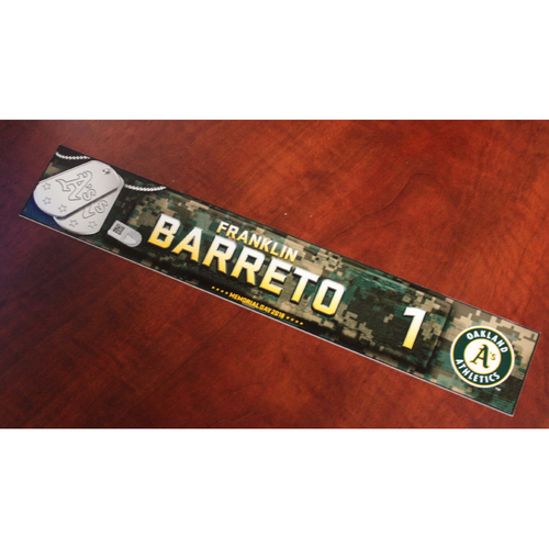 Photo of Franklin Barreto 2018 Team Issued Memorial Day Locker Nameplate