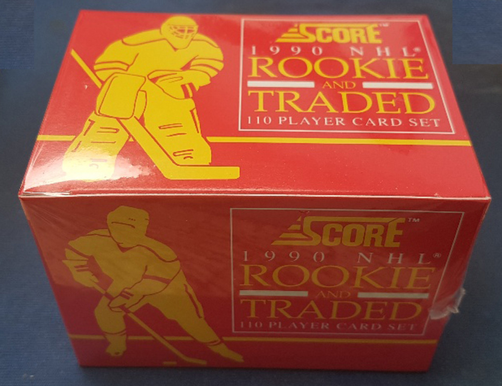 Factory Sealed 1990 Score Rookie & Traded 110 Player Hockey Card Set *Fedorov, Belfour, Jagr, Sundin Rookie Cards*