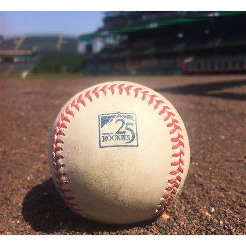 Photo of Colorado Rockies Game-Used Baseball - Baez v. Arenado - Single to Taylor - August 9, 2018