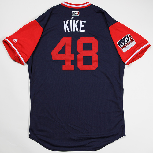 "Photo of Jose ""Kíke"" Alvarez Los Angeles Angels Game-Used 2018 Players' Weekend Jersey"