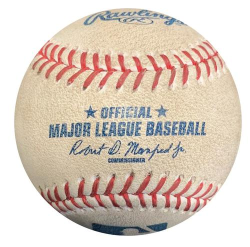 Photo of Game-Used Baseball from Pirates vs. Mets on 5/26/17 - Jacob deGrom Strikeout