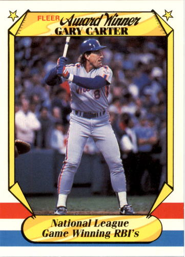 Photo of 1987 Fleer Award Winners #7 Gary Carter