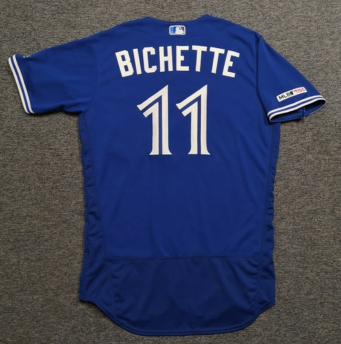 Photo of Authenticated Team Issued 2019 Jersey - #11 Bo Bichette. Size 44.