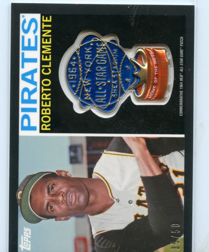 2017 Topps MLB All Star Logo Patch Black #ASLRC Roberto Clemente