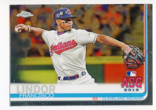 Photo of 2019 Topps Chrome Update #82 Francisco Lindor AS