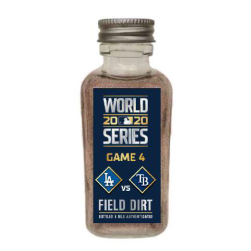Photo of Game-Used Dirt Jar - 2020 World Series - Los Angeles Dodgers v. Tampa Bay Rays - Game 4