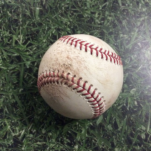 Photo of Game-Used Baseball PIT@MIL 08/26/18 - Chris Archer - Jesus Aguilar: Strikeout