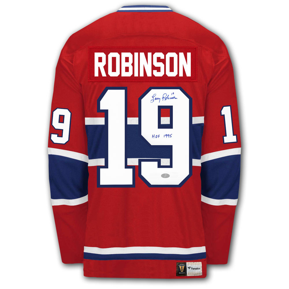 Larry Robinson Montreal Canadiens Vintage Autographed Jersey