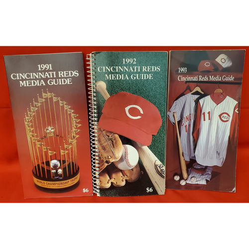Photo of Cincinnati Reds Media Guide Collection: 1991, 1992, 1993