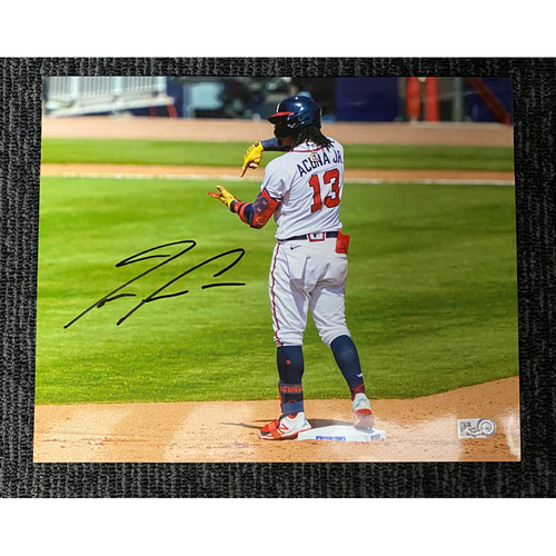 Photo of Ronald Acuna Jr. MLB Authenticated and Autographed 8x10 Photo