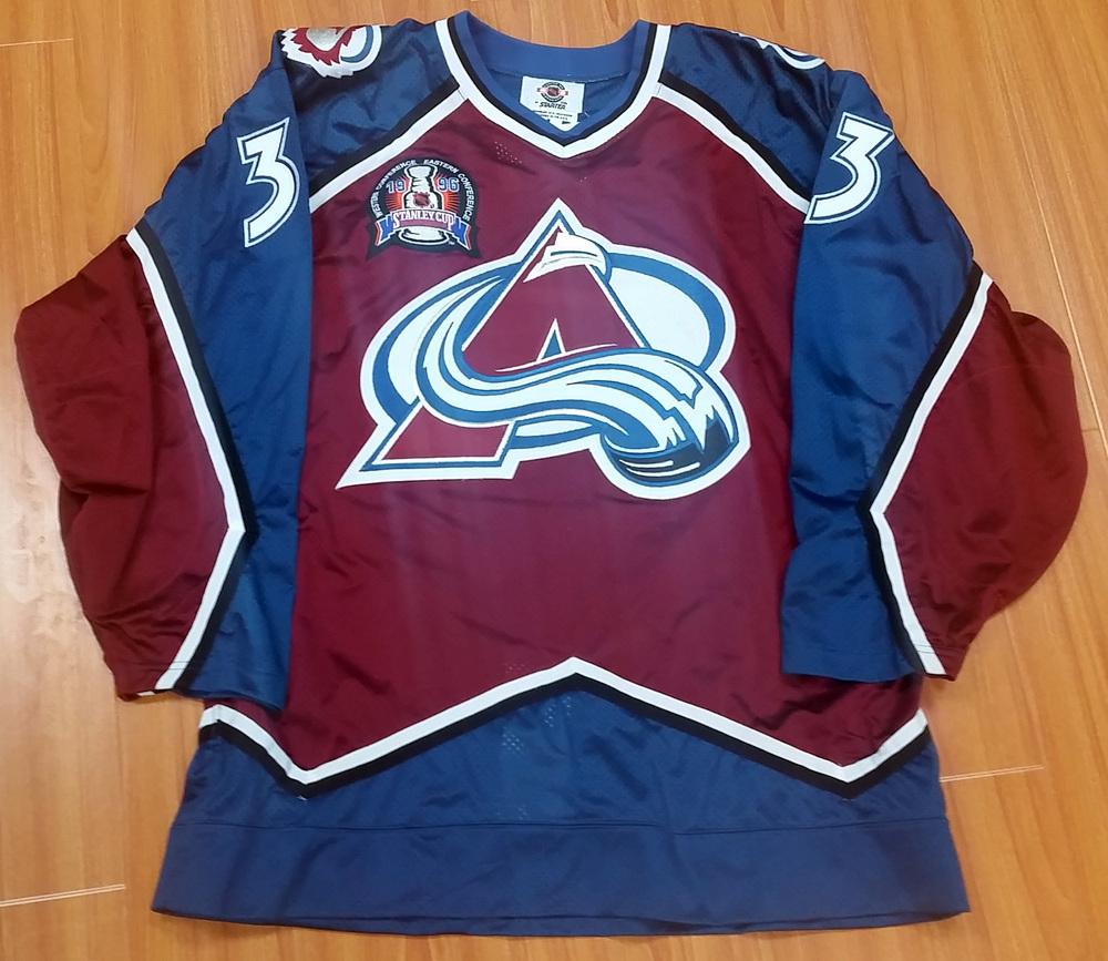 80009763c49 Patrick Roy Colorado Avalanche Autographed Retro Starter 1996 Stanley Cup  Authentic Jersey L E 83 96  Size 54   JSA COA