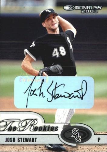 Photo of 2003 Donruss Rookies Autographs #10 Josh Stewart/300