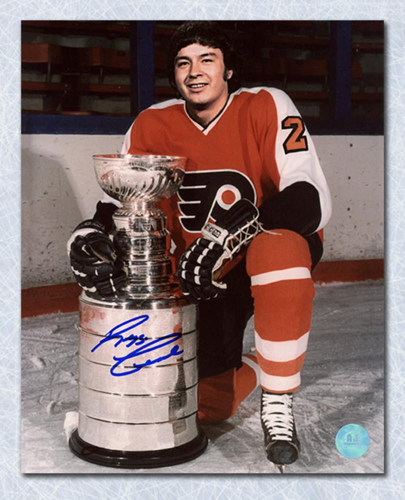 Reggie Leach Philadelphia Flyers Autographed Stanley Cup 8x10 Photo