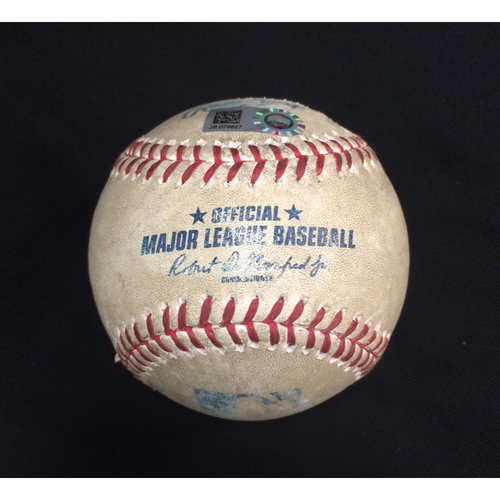 Game-Used Baseball from September 25, 2017: Chicago White Sox vs. Los Angeles Angels