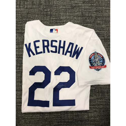 Photo of Los Angeles Dodgers Foundation Online Auction: Clayton Kershaw Authentic Autographed Los Angeles Dodgers Jersey - Not MLB Authenticated