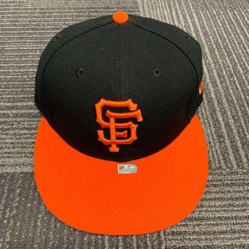 Photo of End of Year Auction - 2017 Game Used Alternate Orange Bill Cap - size 7 1/4 - worn by #41 Mark Melancon on 8/19/17