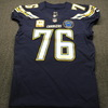 STS - Chargers Russell Okung Game Used Jersey Size 46 (11/18/18) w/ Alex Spanos Memorial Patch & Captain's Patch