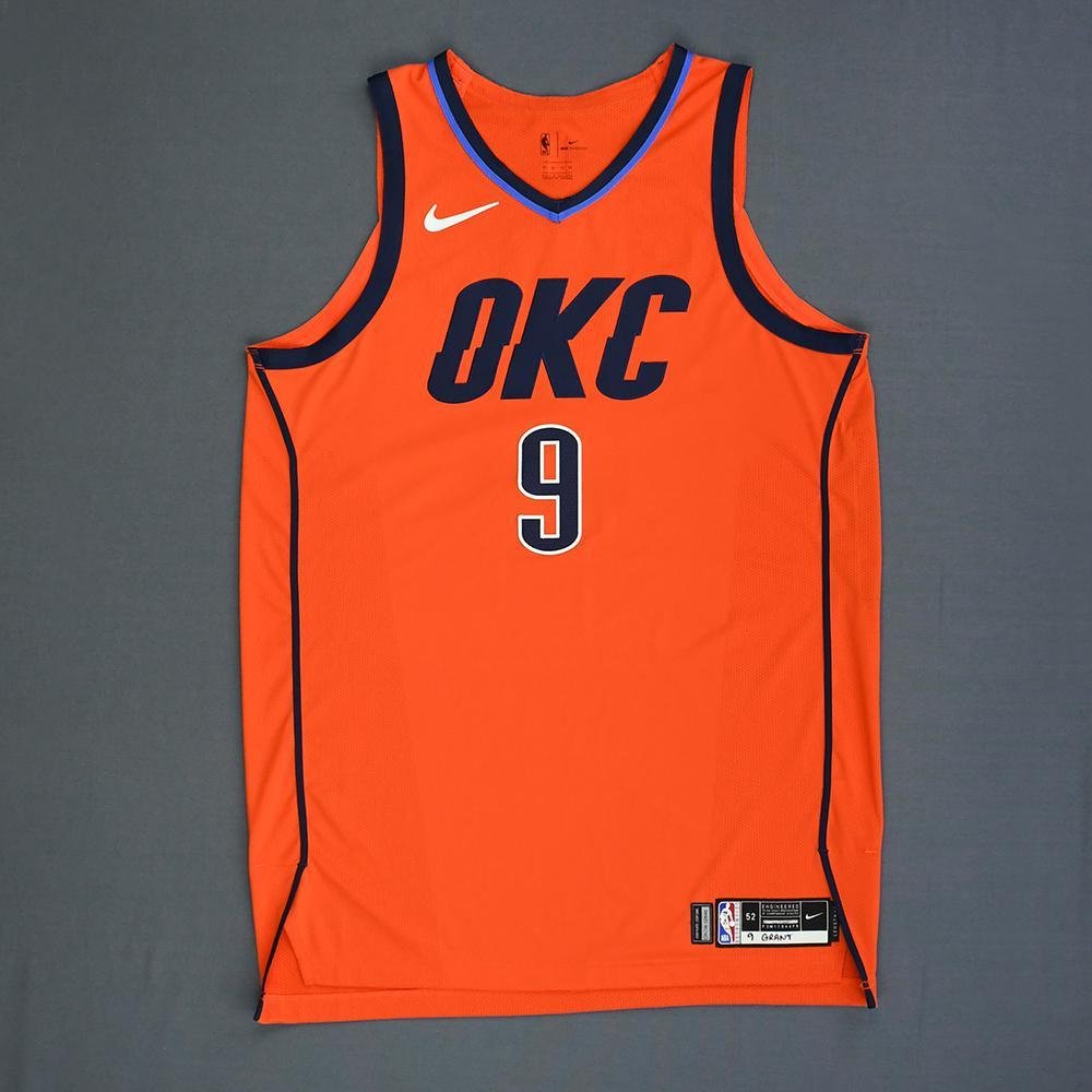 Jerami Grant - Oklahoma City Thunder - Game-Worn Earned Statement Edition Jersey - 2018-19 Season