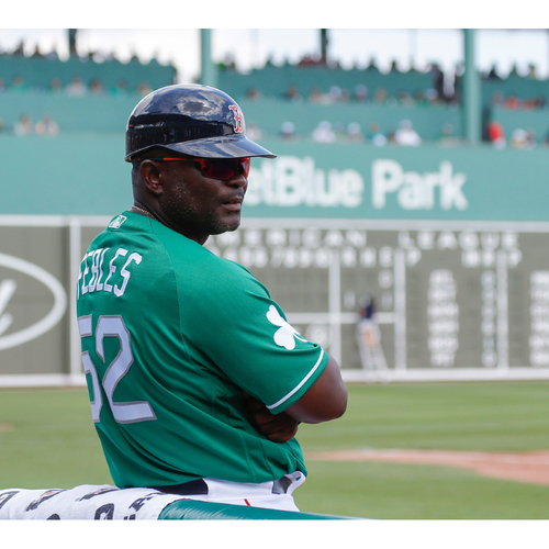 Photo of Red Sox Foundation St. Patrick's Day - Carlos Febles Game-Used and Autographed Jersey