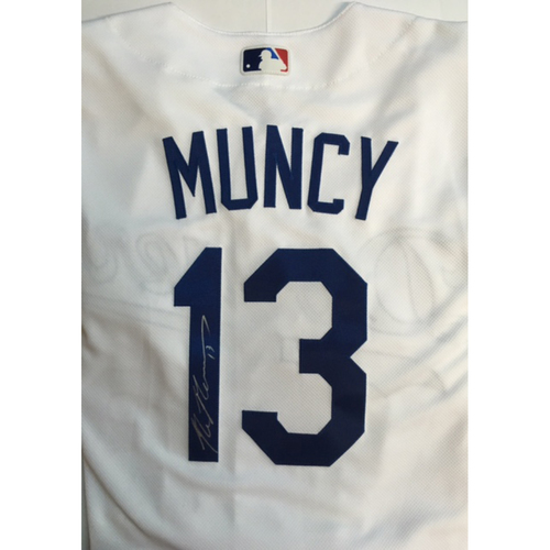 Photo of Max Muncy Autographed Authentic Dodgers Jersey