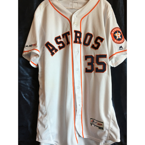 Photo of Justin Verlander 2019 Game-Used Jersey (Size 48) - 4/8 vs. NYY, 4/24 vs. MIN