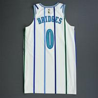 Miles Bridges - Charlotte Hornets - 2018-19 Season - Game-Worn White Classic Edition 1988-97 Home